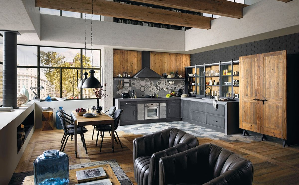 Industiral And Rustic LOFT Kitchen By Snaidero | houseofdesign.info