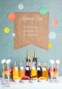 Mimosa Bar on Pinterest | Bridal Brunch Shower, Bubbly Bar ...