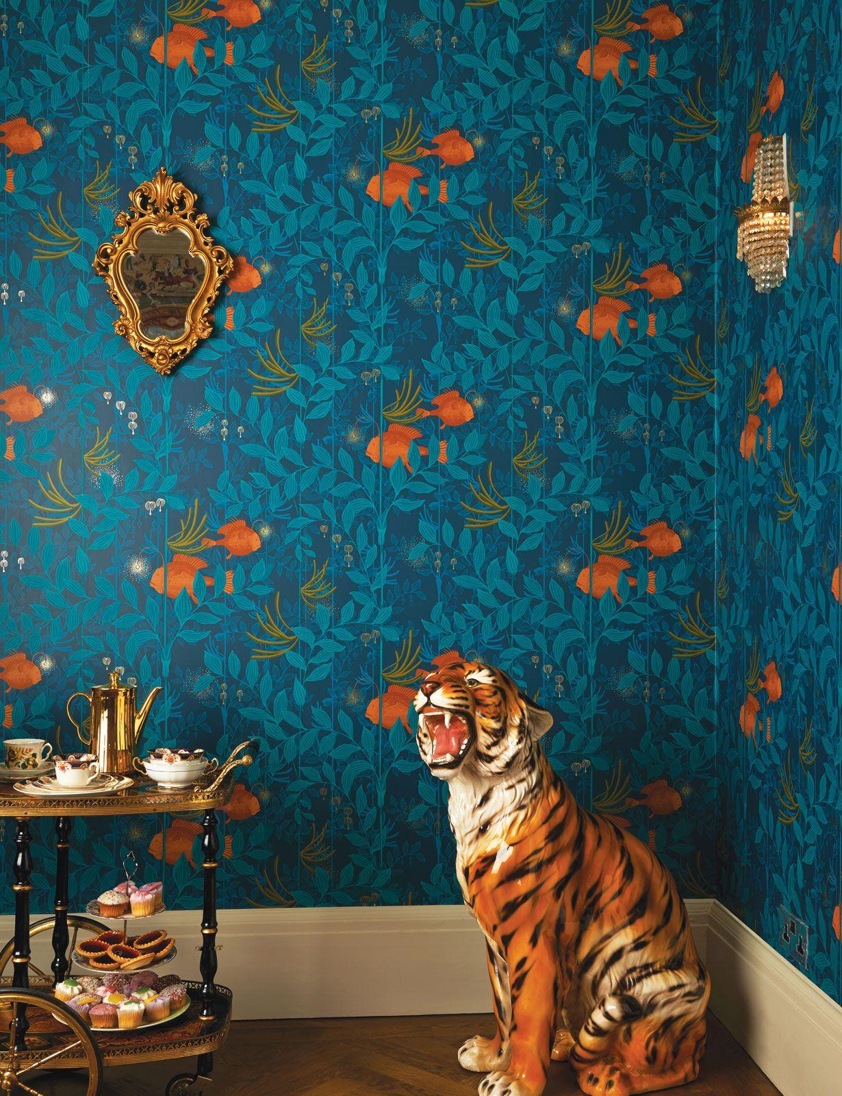 cole & son's whimsical wallpaper range - nautilus | vardagsrum