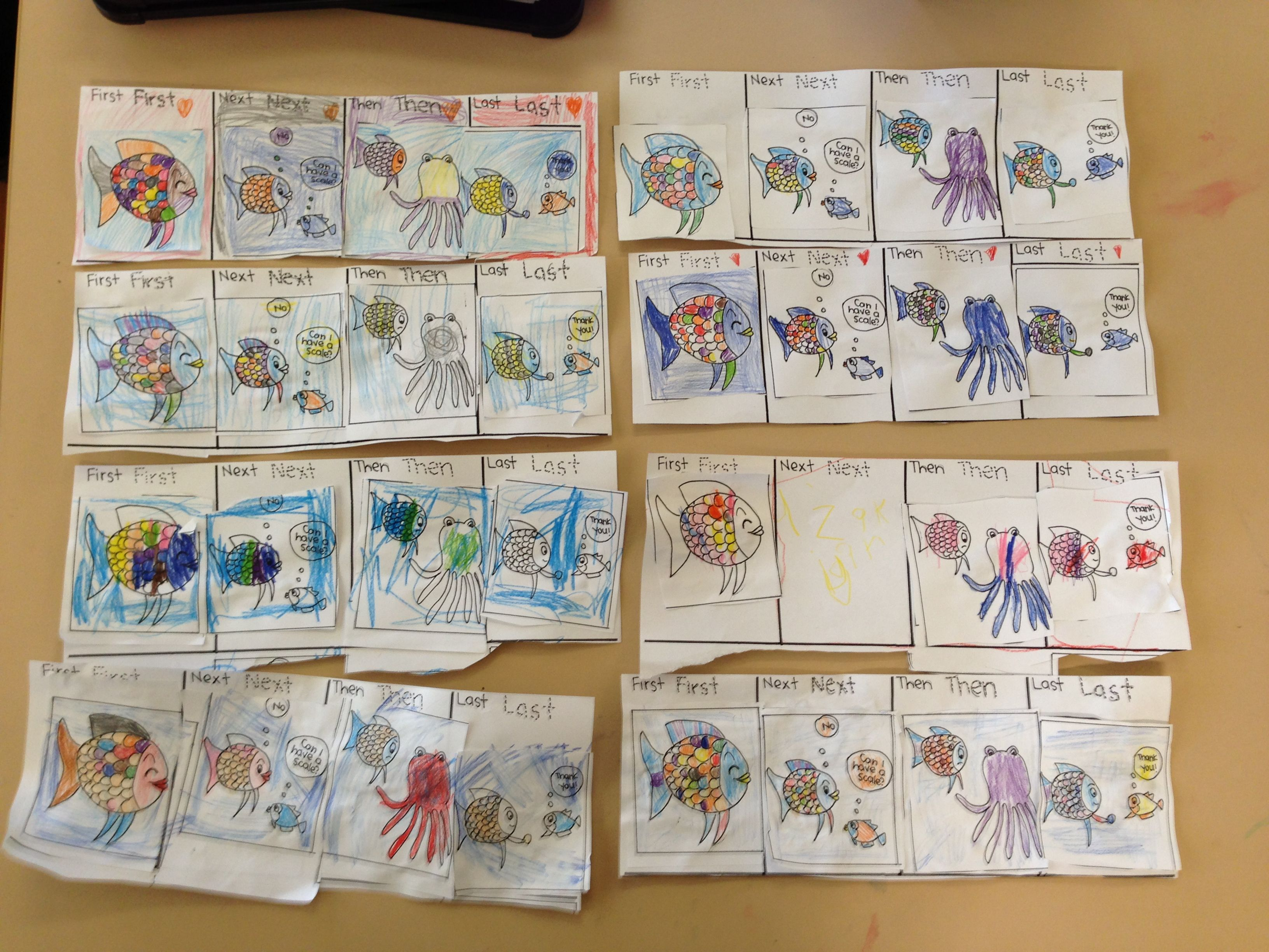 Maths Hsie The Rainbow Fish Sequencing And Good Quality Friendships The Kids Loved It