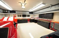 Modern elegant garage interior design with organizers ...
