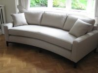 Bespoke curved sofa. Perfect for a bay window. This has ...