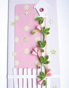 Pretty quilled card also birdhouse quilling cards and rh pinterest