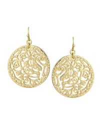 Madina Filigree Medallion Earrings in Gold - Kendra Scott ...