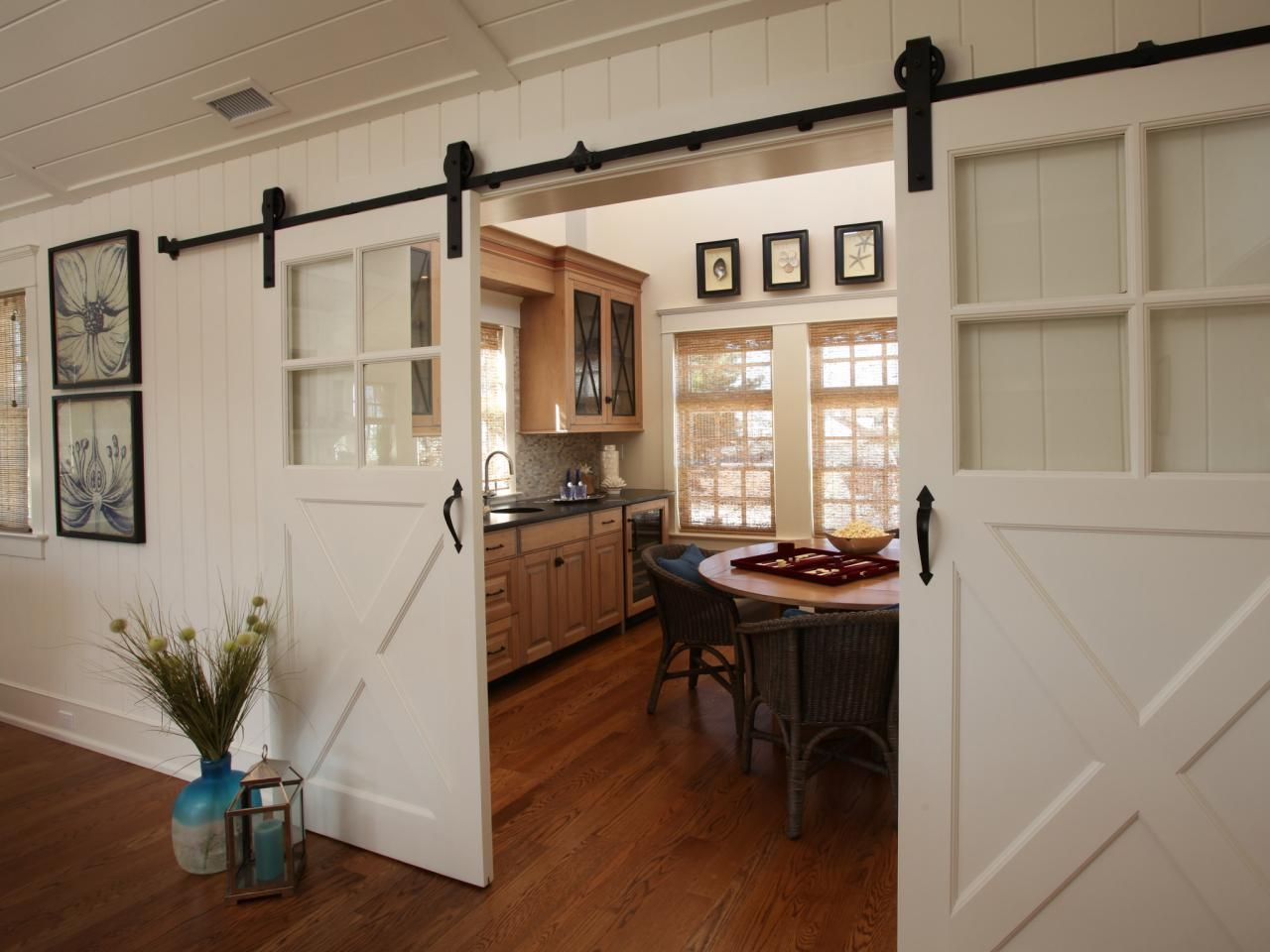 Sliding Barn Doors Offer Both Easy Access To And Privacy