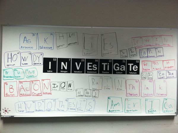 Periodic Table Scrabble - 6th Graders' Work Kids