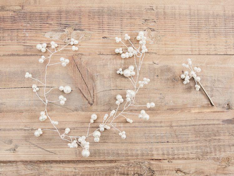 DIYAnleitung Haarschmuck mit Perlen herstellen via