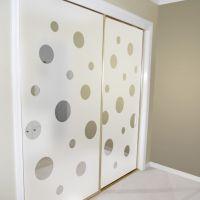 closet door alternatives | Mirrored closet doors decorated ...