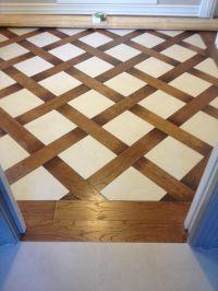 Wood and tile basket weave pattern   Tile Floors ...