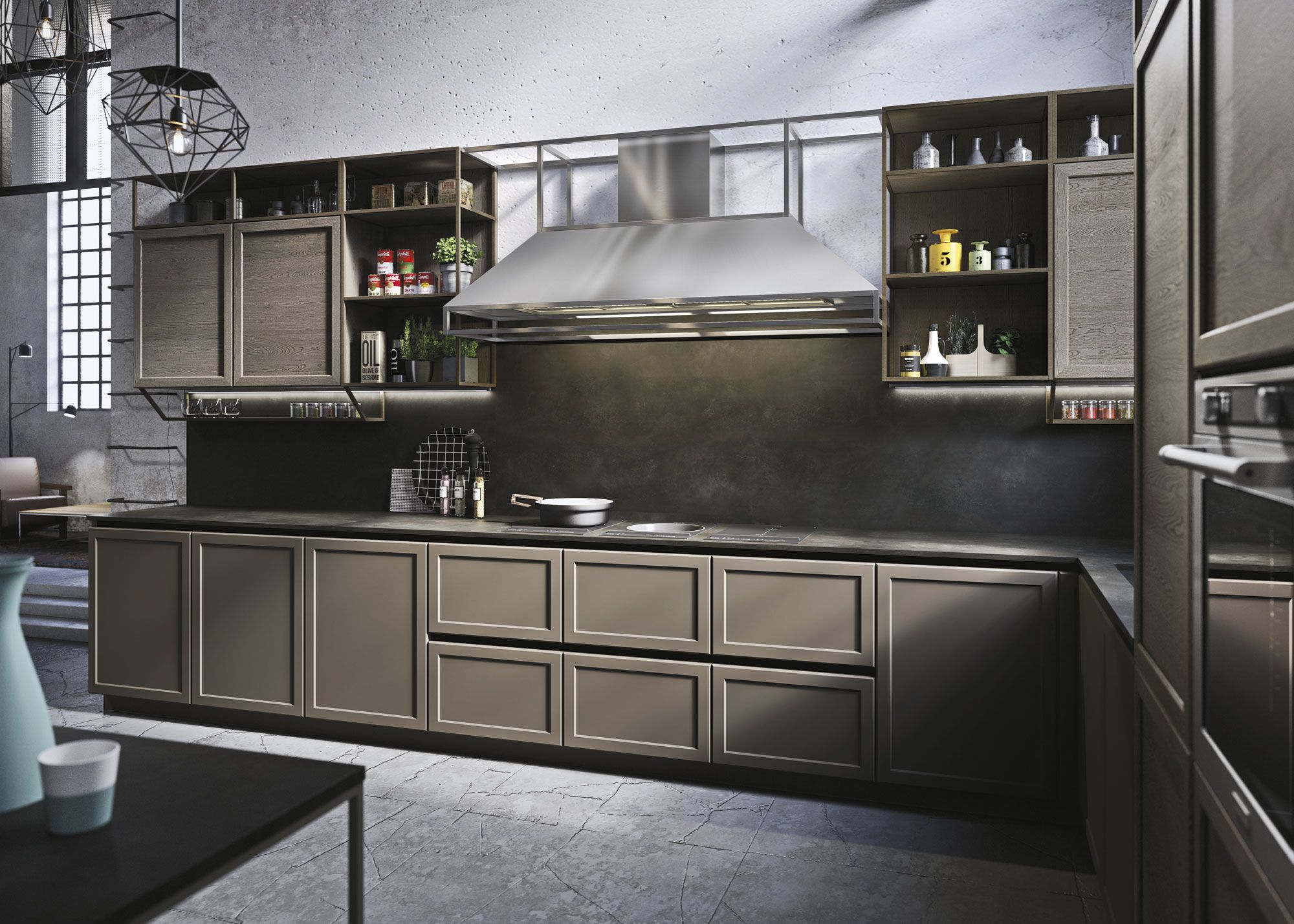 Snaidero FRAME kitchen cabinet has a classic framed door