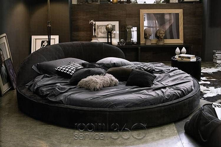 Looks so Comfy Jazz Designer Round Leather Bed by Gamma