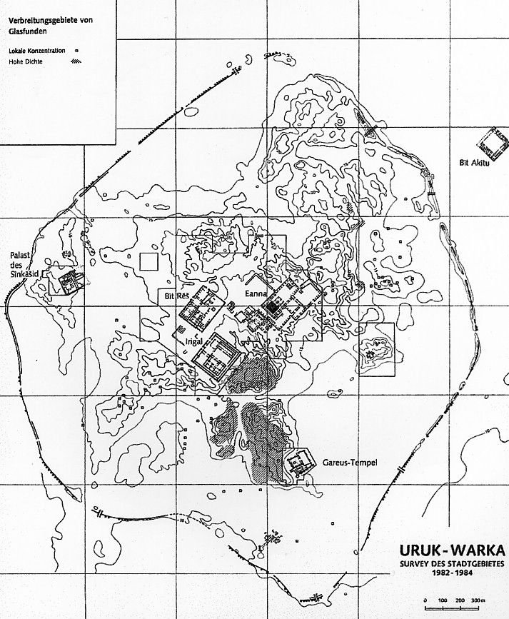 City plan of Uruk, Sumerian capital during Uruk period