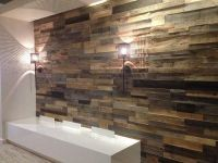 DIY Project with Faux Wood Paneling for Walls   Books to ...