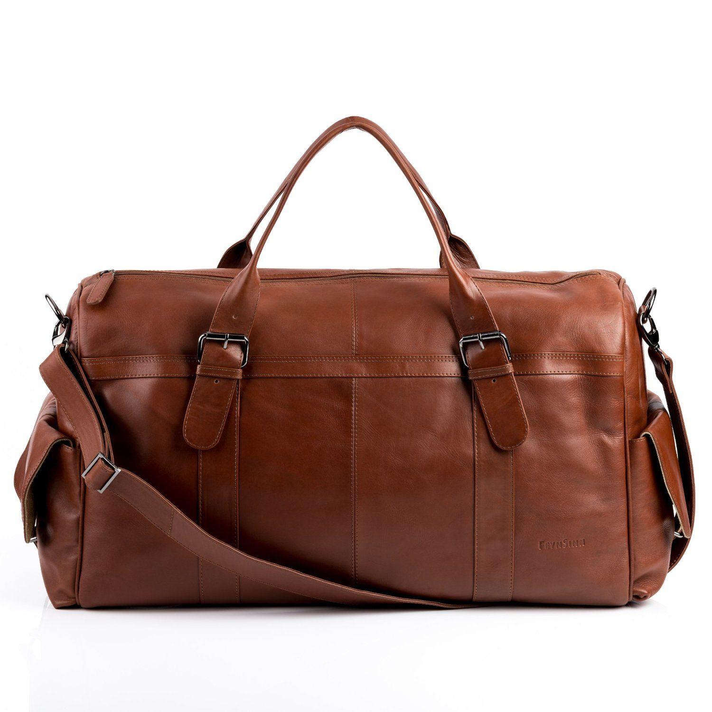 feynsinn sac de voyage ashton besace weekend fourretout marron en cuir veritable