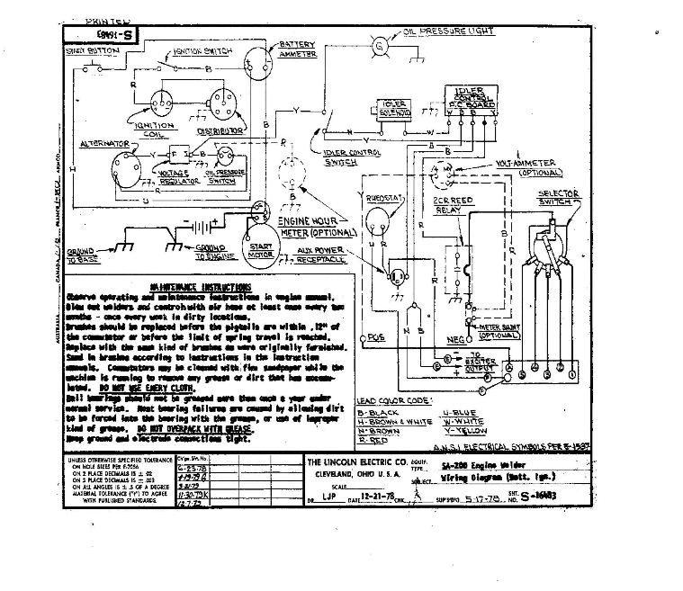 lincoln sa 200 welder wiring diagram 500 watts power amplifier schematic sa200 diagrams | sa-200 auto idle with dia.3 pinterest ...