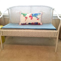 Diy Wicker Chair Cushions Desk Mid Century Modern Bench Cushion Duct Tape