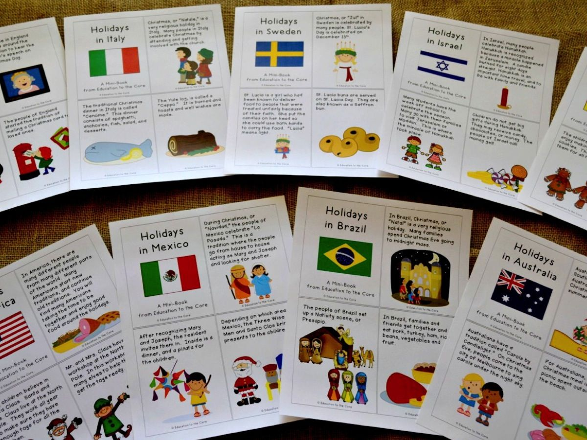 Christmas Around The World Activities And A Freebie