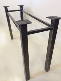 Set of 2 Legs, Steel, Sturdy Legs, Metal Table Legs