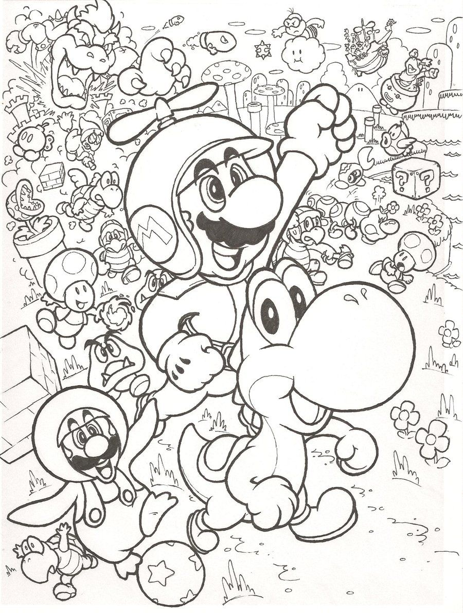 New Super Mario Bros. Coloring page by mattdog1000000