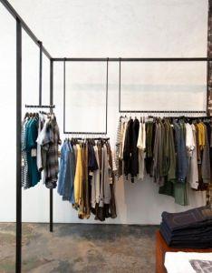 Brian paquette interiors  blackbird clothing store designclothing also espacios comerciales rh pinterest