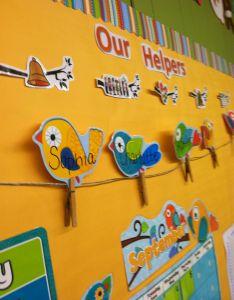 Wall decoration ideas in school preschool helper chart  also detective bulletin board rh landscapedesignideasforyardsspot