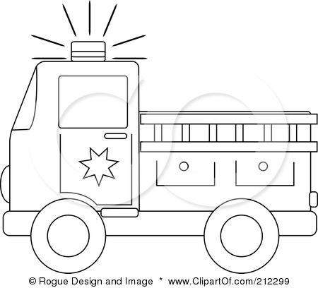 -Coloring-Page-Outline-Of-A-Fire-Truck-With-A-Ladder