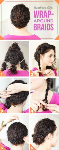 Create a wrap-around braid look with this tutorial. | Updo ...