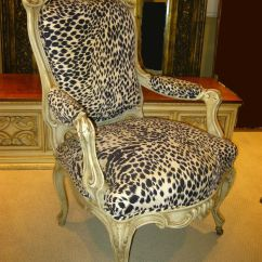 Animal Print Accent Chair High Seat Chairs For Elderly Uk French Provincial Hollywood Regency White Leopard