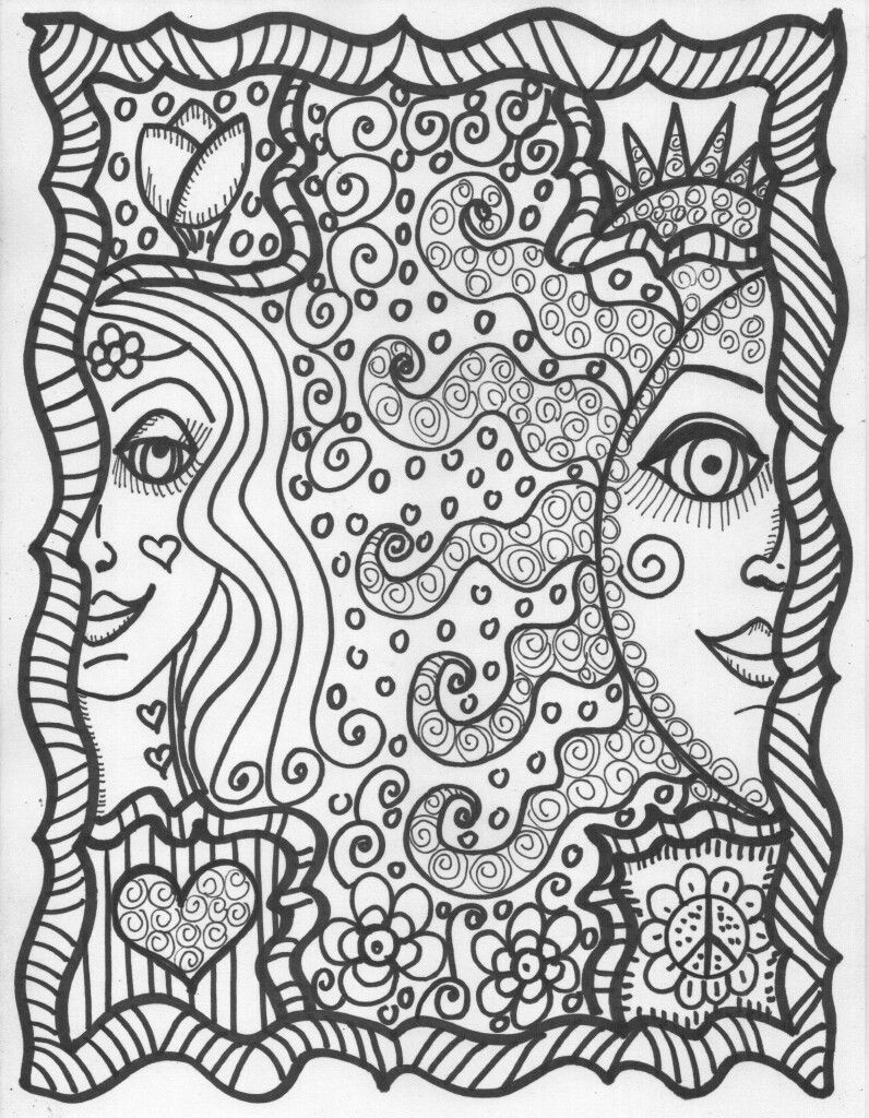 Pin By Stina On Hippie Coloring Pages Pinterest Adult Coloring