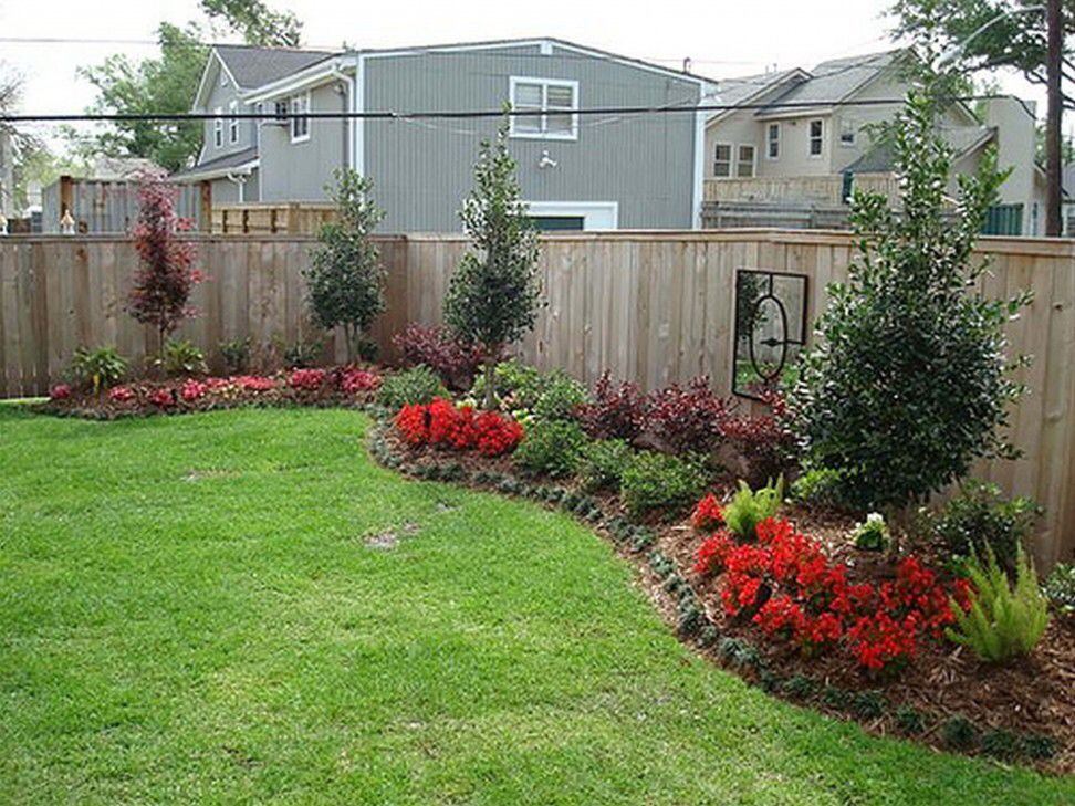 Backyard Landscaping Along Fence Gardening & Outdoors