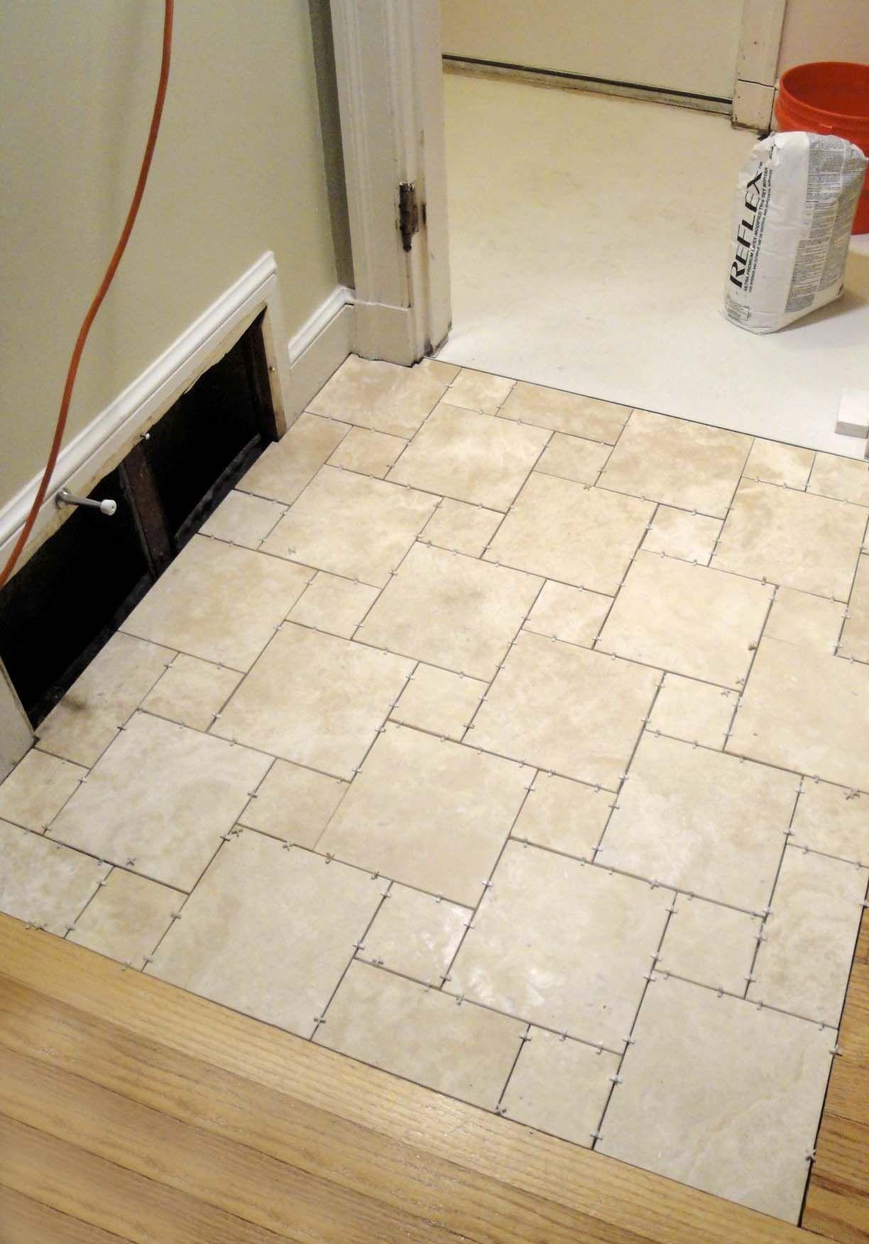 Enjoyable Travertine White Porcelain Bathroom Floor Tile