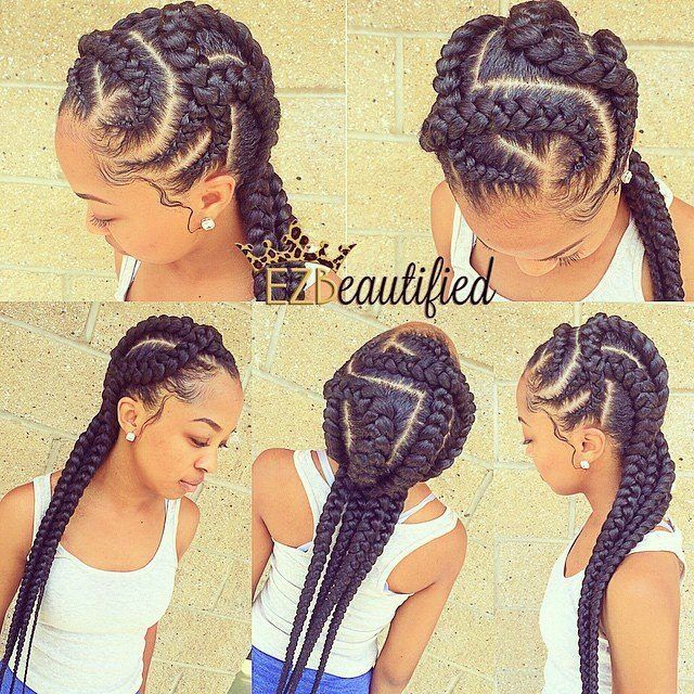 These Braids Are Everything Natural Hair Black Hair Hairstyles