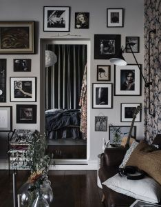 Gallery walls in  swedish home alvhem also interior house rh pinterest