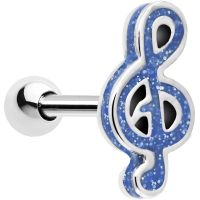 14 Gauge Perfect Pitch Blue Note Cartilage Tragus Earring ...