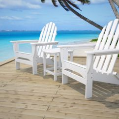 Outdoor Beach Chairs Herman Miller Chair Parts White Polywood Adirondack At The
