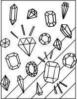 Free Gemstones Coloring Page   Gemstone, Free and Adult ...