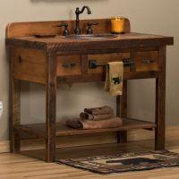Reclaimed Barnwood Open Vanity | Rustic bathrooms ...