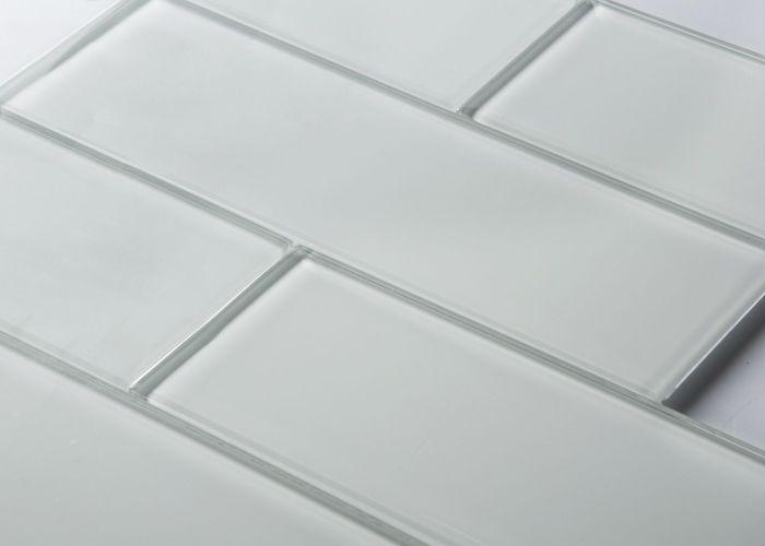 Glass subway tiles also tile bathroom backsplash   shower