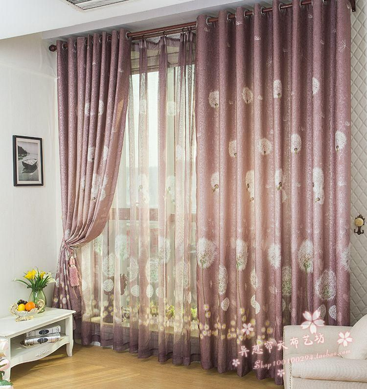 Sheer Blue Curtain Design With Cartoon Characters Kids Room
