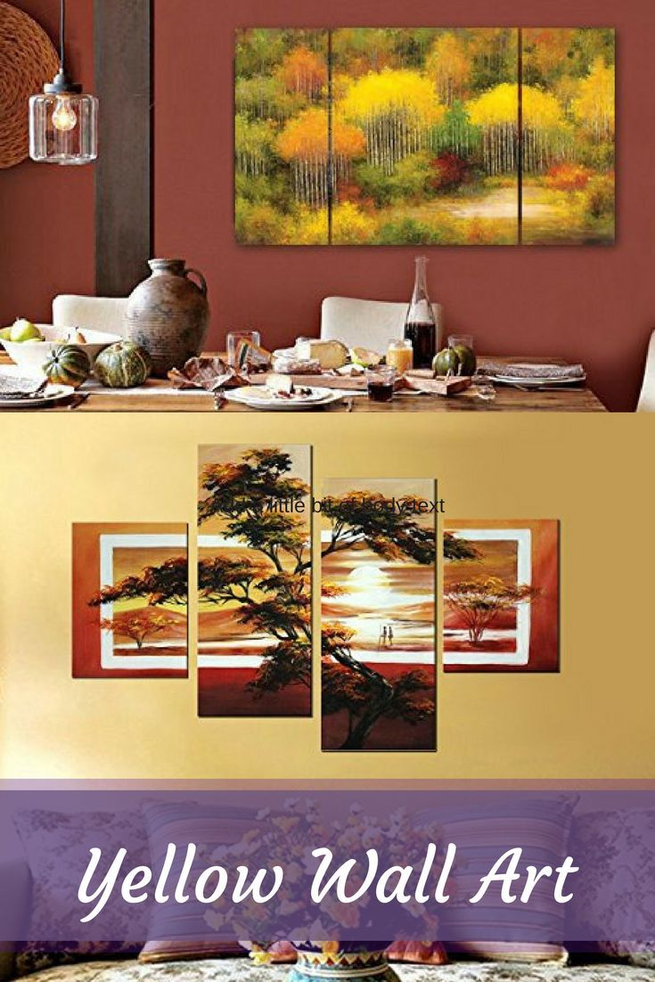 Bright bold and popular yellow wall art using decor also is  truly beautiful vibrant way to rh pinterest