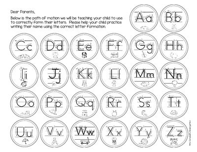 Alphabet activities: FREE Path of Motion Letter Formation