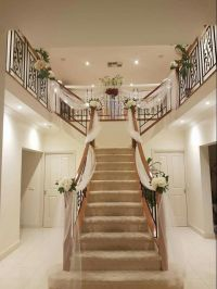 Wedding preparation. Staircase decor | stairs decor ...
