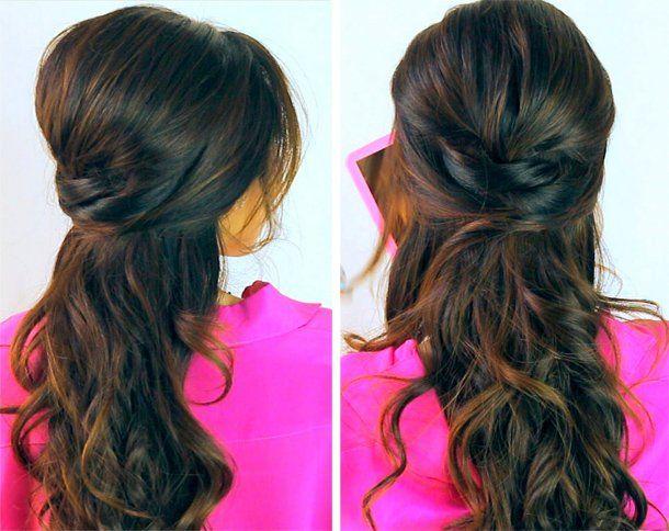 Abschluss Frisuren Halboffen Lange Haare Pinterest Frisuren