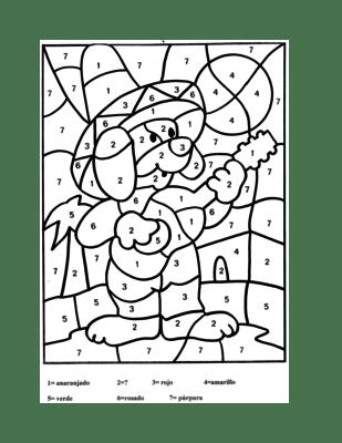 Cinco de Mayo- Spanish Color by Number- Panchito el