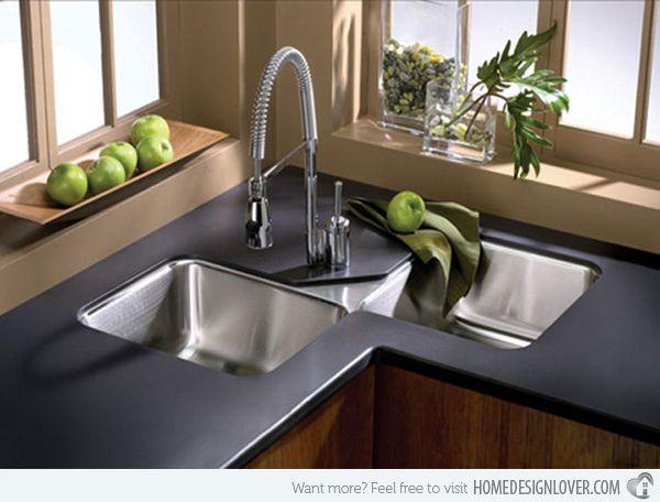 15 Cool Corner Kitchen Sink Designs Corner Sink Sinks