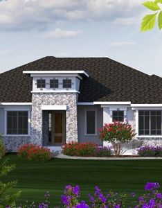 Eplans mediterranean modern house plan  tuscan inspired ranch square feet and bedrooms from code also home homepw foot bedroom bathroom rh pinterest