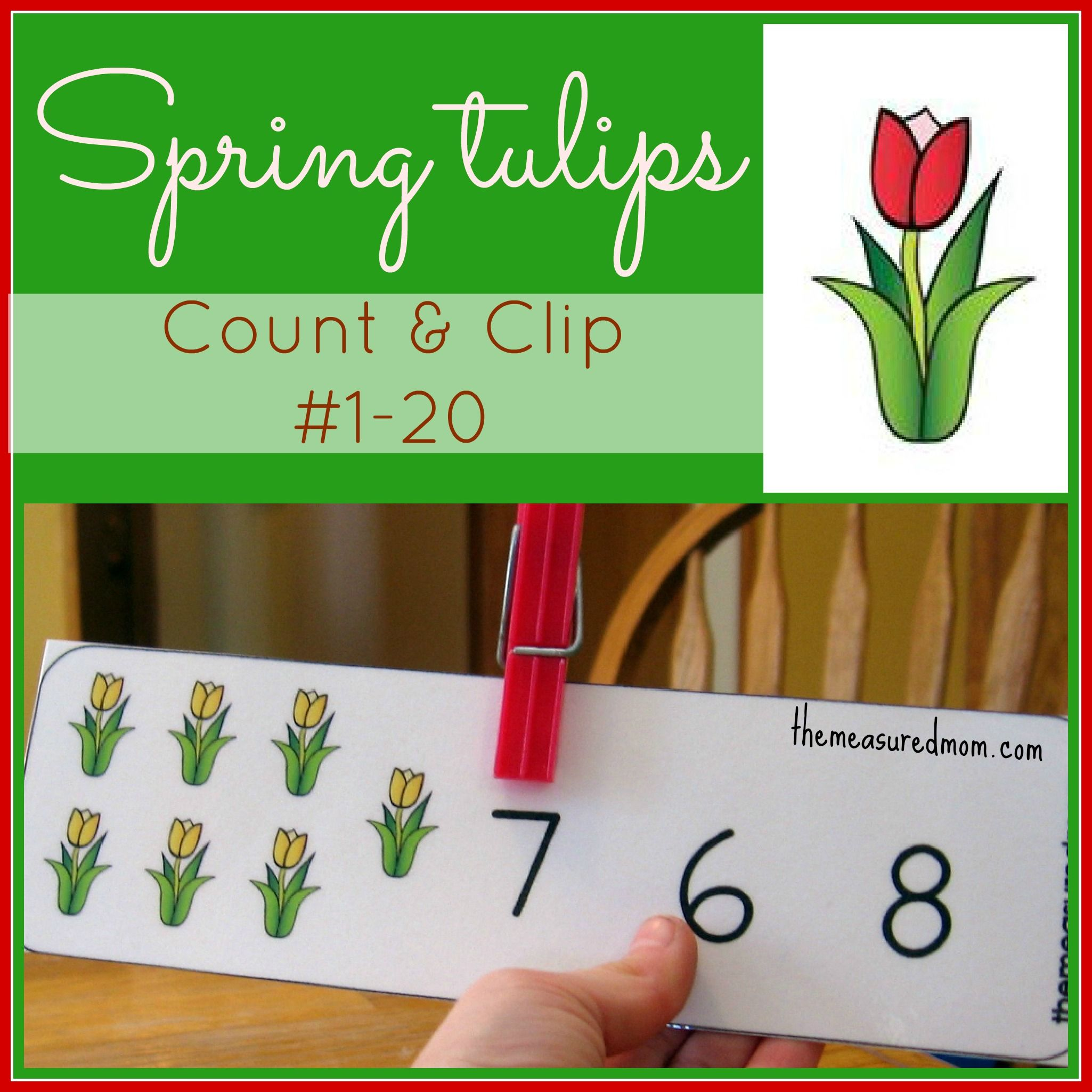 Printable Counting Activity For Preschoolers Spring