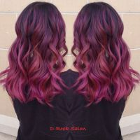 Rose purple color melt | hair color 2015| ombr | red ...