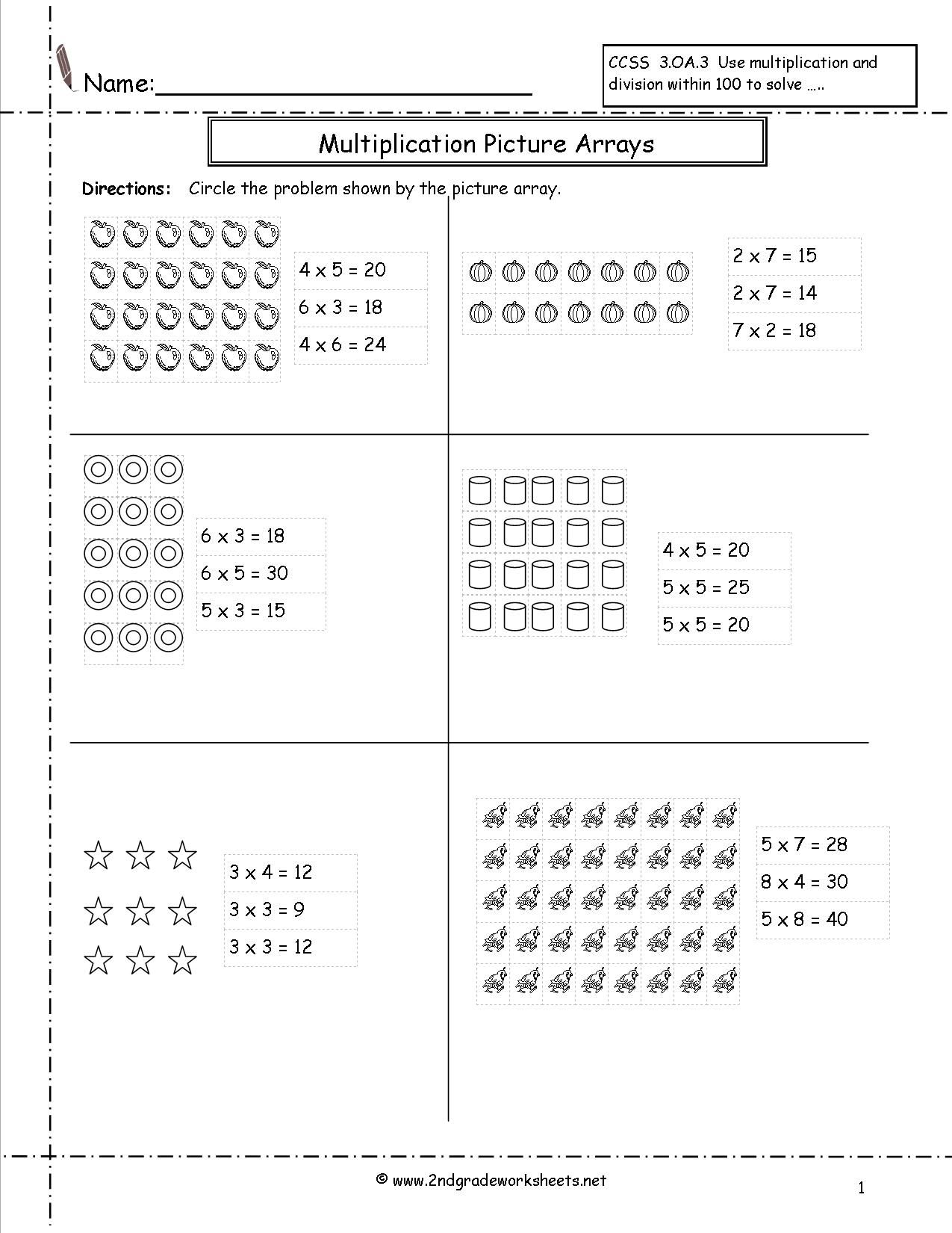 Draw Groups Multiplication Worksheets