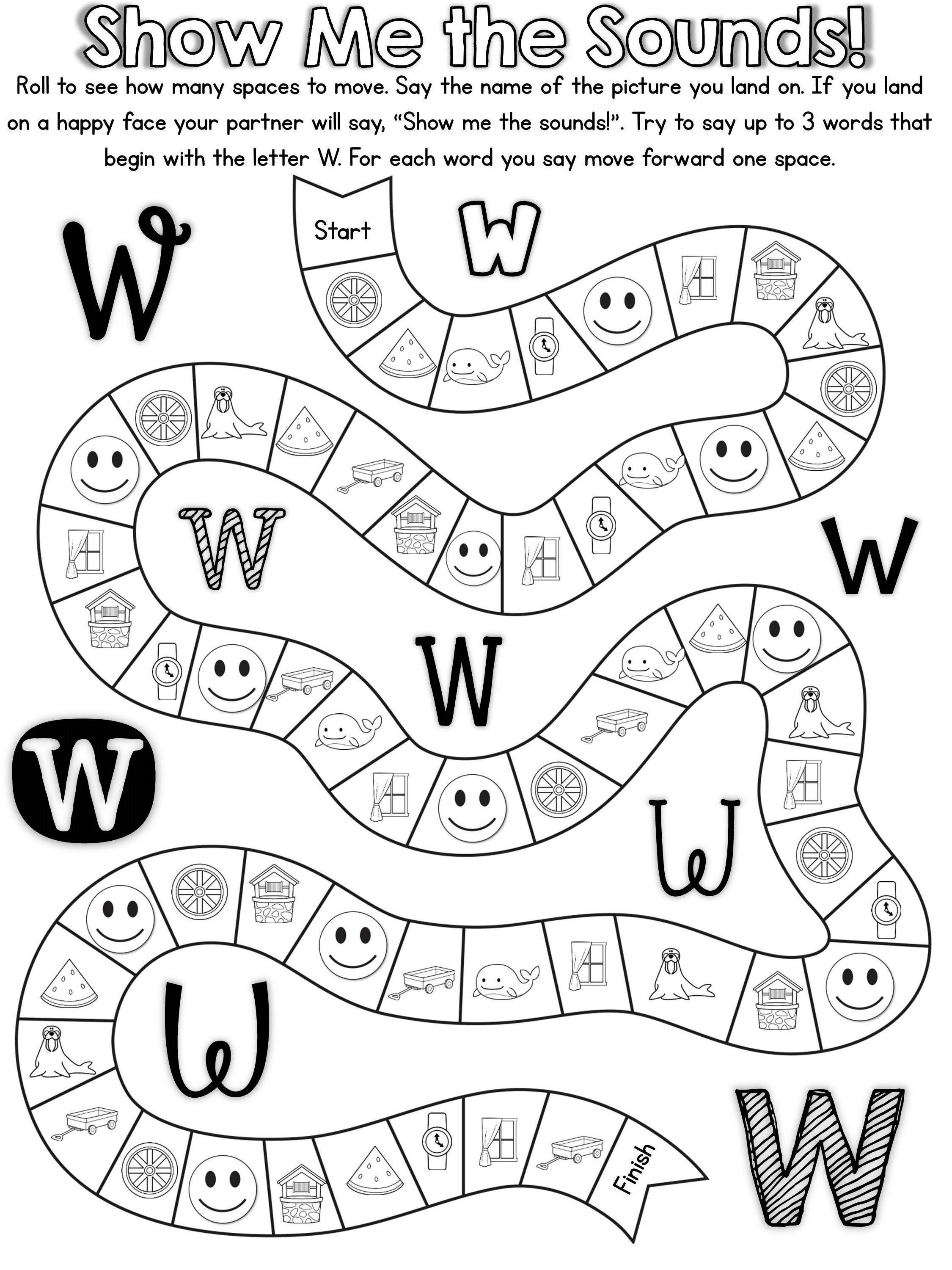 20 ready to print, no prep games to practice the letter W